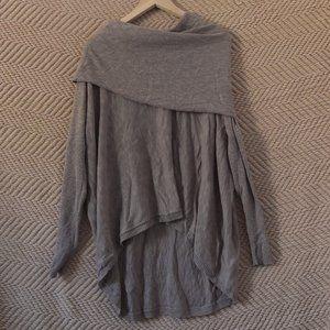 Ruby Moon Tan Cowl Neck Knit Long Sleeve Top L